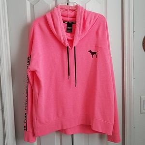 VS  Pink Cowl Neck Sweatshirt